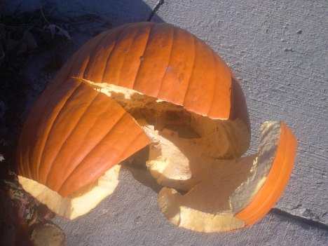 Our ruined Pumpkin