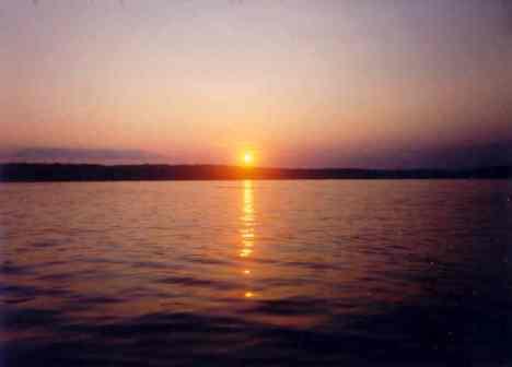 Lake Lacerne, WI at sunset