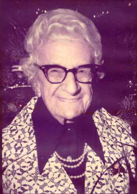 June 20, 1885 - March 16, 1987  Mother of Fran Kretschmer
